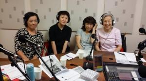 かつしかFM「女性の声が見えるラジオ」でこども食堂オープンをアピール。