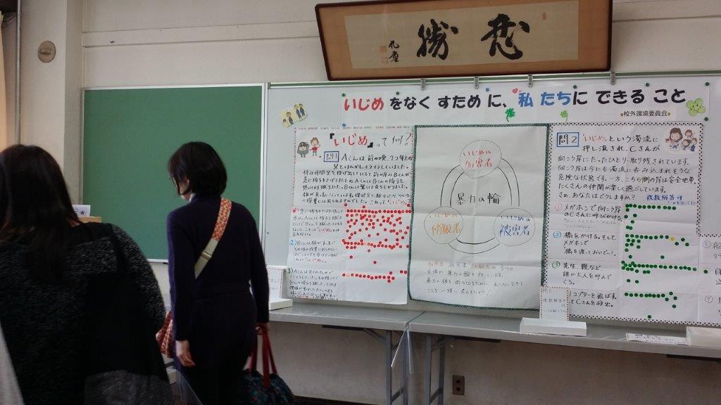 中学校文化祭で展示